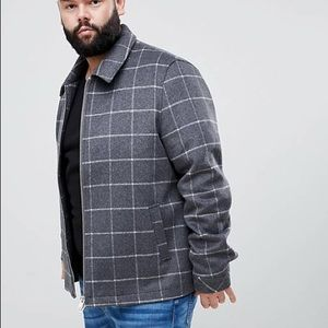 ASOS Window Pane Check Wool Blend Jacket Size 4XL